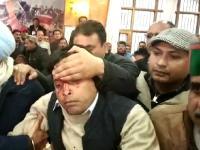 शिमला कांग्रेस ऑफिस में सुक्खू और वीरभद्र के समर्थकों में चले लात-घूंसे (Watch Video)