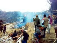 भीषण अग्निकांड में मकान व गऊशाला जलकर राख, 5 मवेशी जिंदा जले