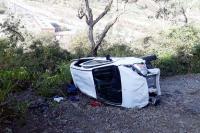 दर्दनाक हादसा : 100 मीटर गहरे नाले मेंं गिरी कार, चालक की मौत