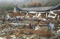 प्रशासन की सूझ-बूझ से बची स्कूली बच्चों की जान, भारी बारिश से ढही स्कूल की इमारत