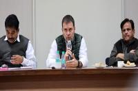 बैठक में बोले राहुल: भाजपा के खिलाफ अपनाएं आक्रामक रुख