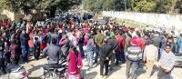 फीस बढ़ौतरी का मामला:अभिभावकों ने दूसरे दिन भी किया मार्ग अवरुद्ध