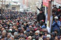 'रोटेशनल मुख्यालय' की मांग को लेकर कारगिल बंद, प्रदर्शन