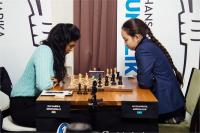 कैरन्स कप इंटरनेशनल शतरंज - अब्दुमलिक को हराकर हरिका नें दर्ज की पहली जीत