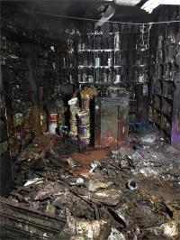 पेंट की दुकान में लगी भीषण आग, लाखों का नुक्सान