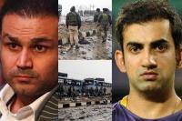 #पुलवामा आतंकी घटना पर गुस्साए सहवाग-गंभीर, लिखा- अब बात हो युद्ध के मैदान में
