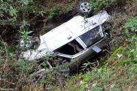 बेकाबू होकर खाई में गिरी मारुति कार, एक की मौत-3 गंभीर घायल