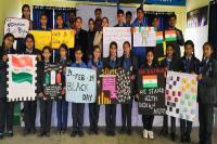 कठुआ में विद्यार्थियों ने पुलवामा हमले के शहीदों को दी श्रद्धांजलि