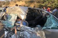 दर्दनाक हादसा : कार-बस की टक्कर में कार चालक के साथ हुआ कुछ ऐसा